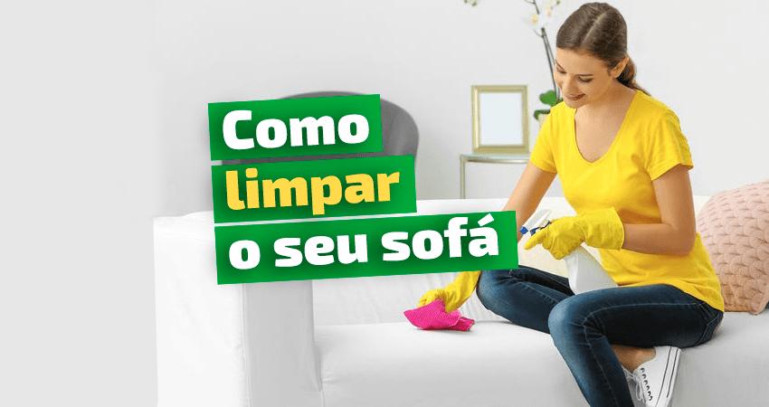 limpeza caseira de sofá