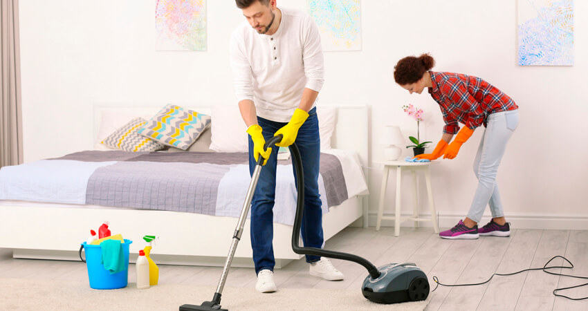 Limpeza detalhada do seu quarto